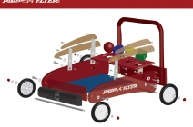 Red Wagon 3D exploded view