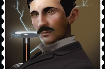 renduring of nikola tesla in adobe illustrator