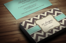 chevron pattern business cards