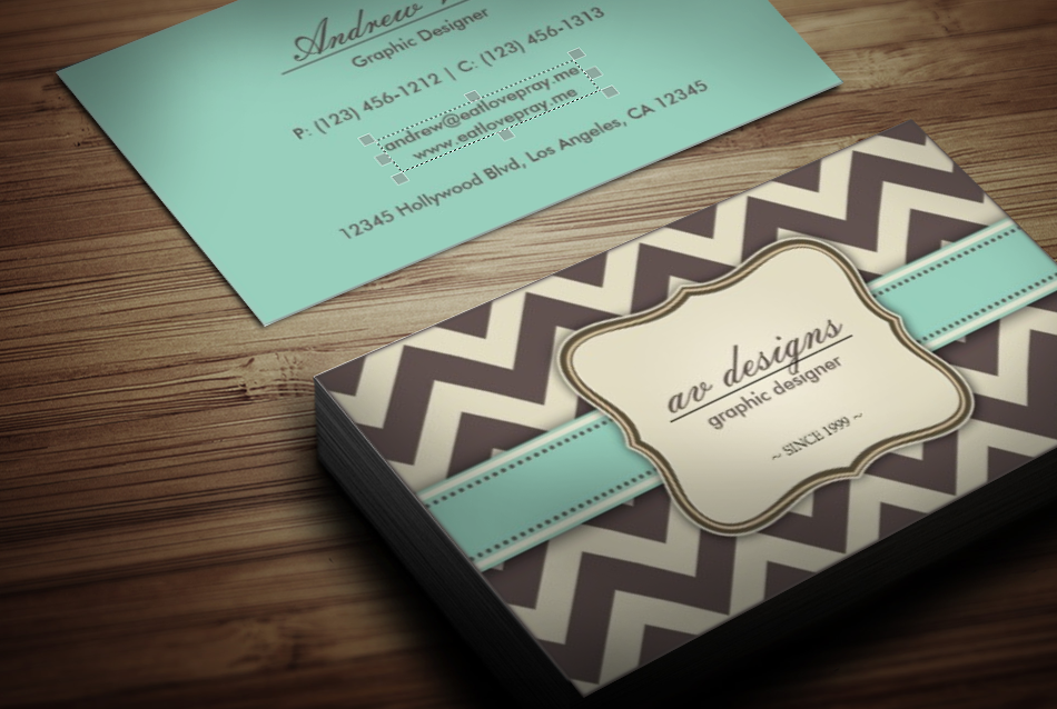Best chevron business cards ideas business card ideas etadamfo chevron business cards evolist colourmoves Gallery