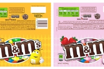 M&M's labels created in illustrator