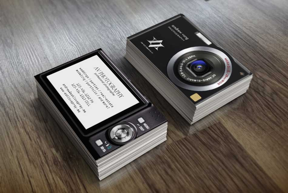 Camera Business Cards | av_designs