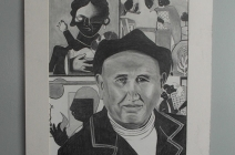 Tribute to Romare Bearden pencil drawing
